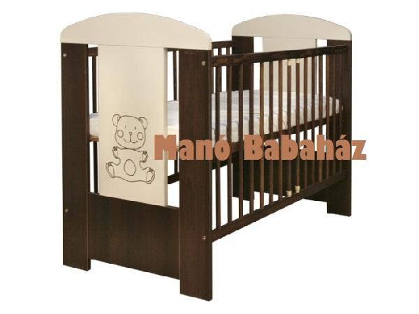 Walnut bear babaágy, kiságy 60x120 cm dió-vanília