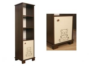 Walnut bear polcos szekrény+ ajtós rész