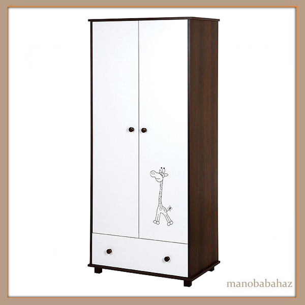 Safari Zsiráf Klups Bútor kétajtós szekrény dió-vanilia szín ...