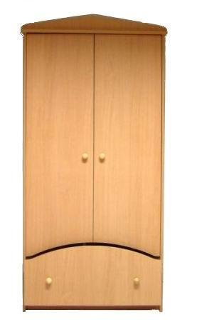 2 ajtós fiókos szekrény juhar