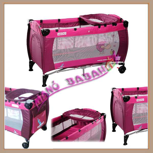 Caretero Medio utazóágy pink