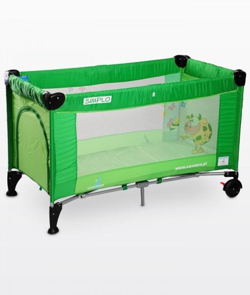 Caretero Simplo utazóágy zöld