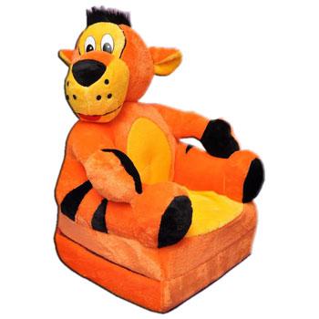 Gyerek  plüss kinyitható fotel tigris