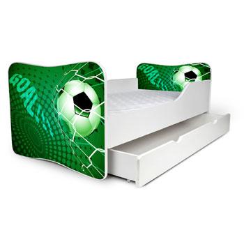 Noby gyerekágy zöld focis  30-as
