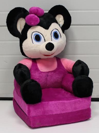 Figurás plüss kinyitható gyerek fotel , babafotel Egérlány