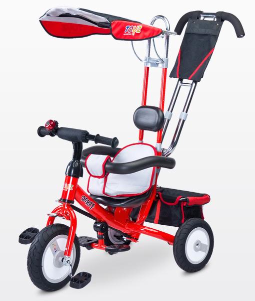 Toyz Derby Lux Red szülőkormányos tricikli  gumi kerékkel