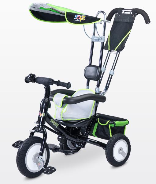 Toyz Derby Lux Green szülőkormányos tricikli  gumi kerékkel