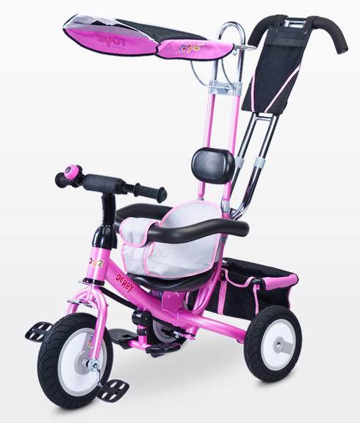 Toyz Derby Lux Pink szülőkormányos tricikli  gumi kerékkel