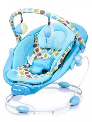 Baby-mix  rezgő, zenélő pihenőszék Blue