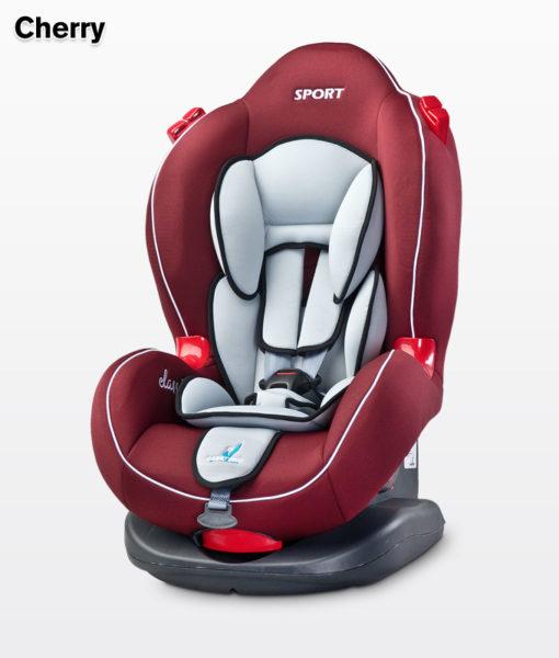 Caretero Sport Classic 9-25 kg biztonsági autós gyermekülés CHERRY