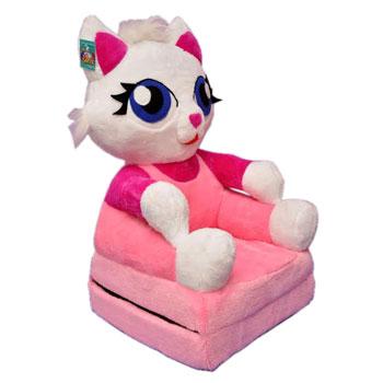 Baby kinyitható figurás fotel pink cica