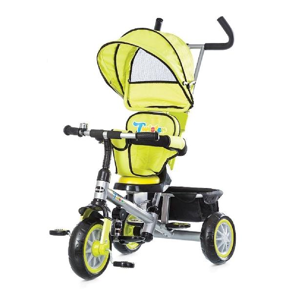 Chipolino Twister tricikli forgatható és dönhető üléssel - Lime