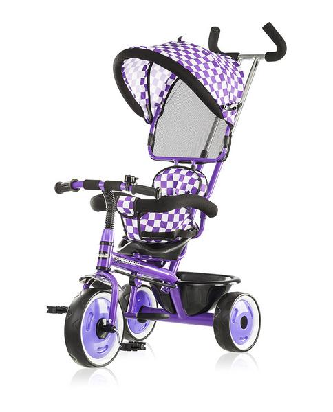 Chipolino Racer szölőkormányos tricikli kupolával Purple