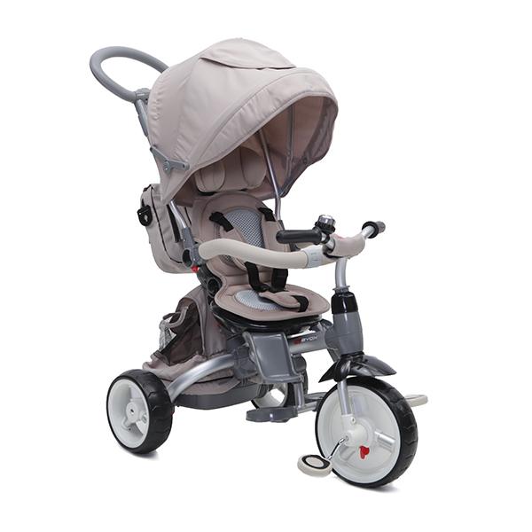 LITTLE TIGER Luxus szülőkormányos tricikli Beige  forgatható, dönthető üléssel