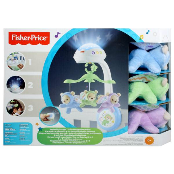 Fisher-Price 3in1 altatódalos kiságyforgó