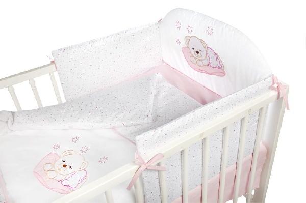 Klups 6 részes ágynemű -  pink Álmos macis