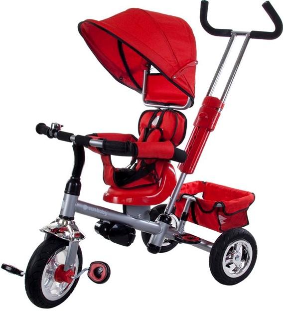Sun Baby B-32 Új Tricikl piros  biztonsági övvel, megfordítható és dönthethető üléssel