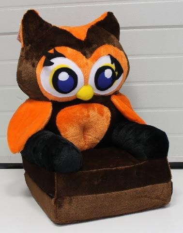 Baby kinyitható figurás fotel barna bagoly