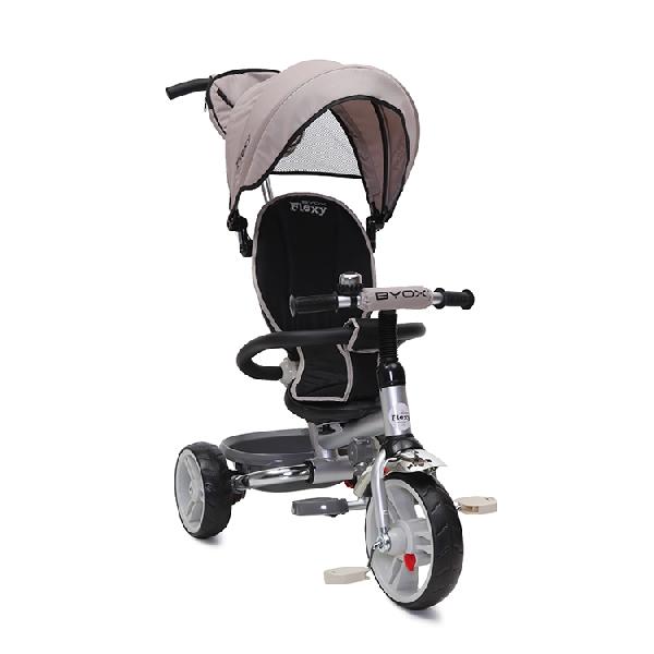 BYOX FLEXY  szülőkormányos tricikli  Beige, Összecsukható vázzal