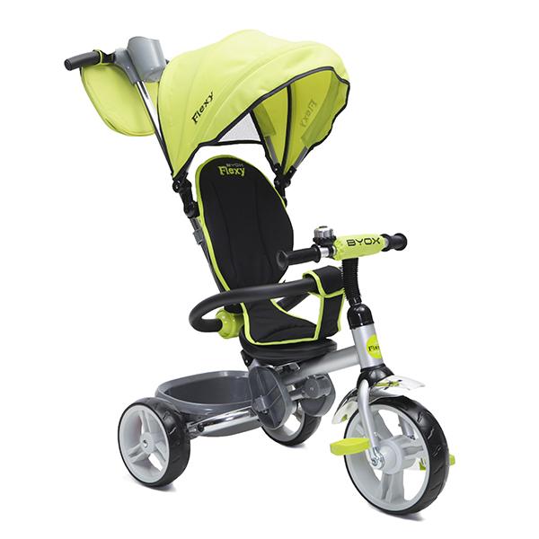 BYOX FLEXY  összecsukható  tricikli  Green, szülőkormányos irányítás