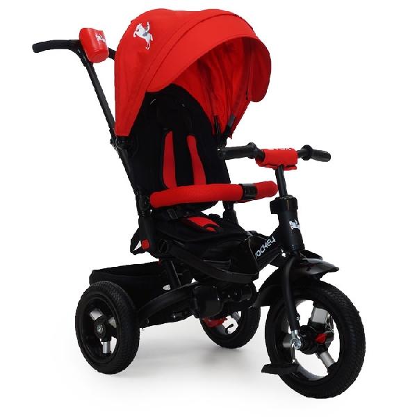 Byox Jockey szülőkormányos tricikli Red  Forgatható, dönthető üléspozícióval