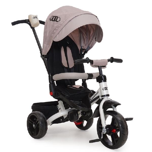 Byox Continent szülőkormányos tricikli Beige  Forgatható, dönthető üléspozícióval