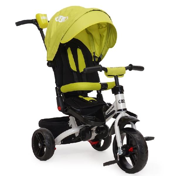 Byox Continent szülőkormányos tricikli Green  Forgatható, dönthető üléspozícióval