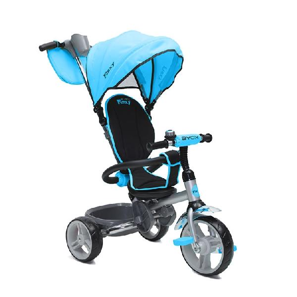 BYOX FLEXY  szülőkormányos gyerek tricikli l Blue, Összecsukható vázzal