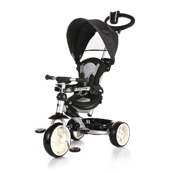 Chipolino DENVER szülőkormányos tricikli kupolával - Black