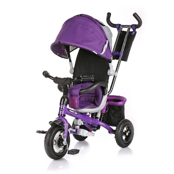 Chipolino HUNTER szülőkormányos tricikli kupolával - Purple