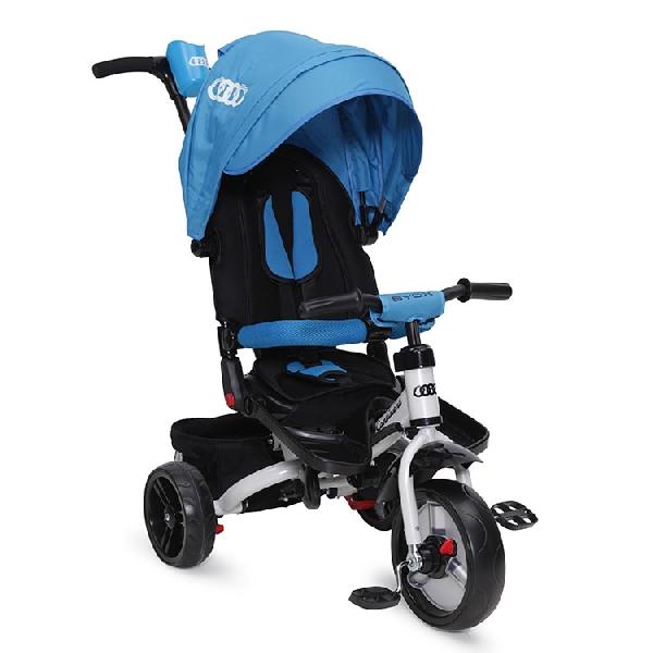 Byox Continent szülőkormányos tricikli Blue  Forgatható, dönthető üléspozícióval