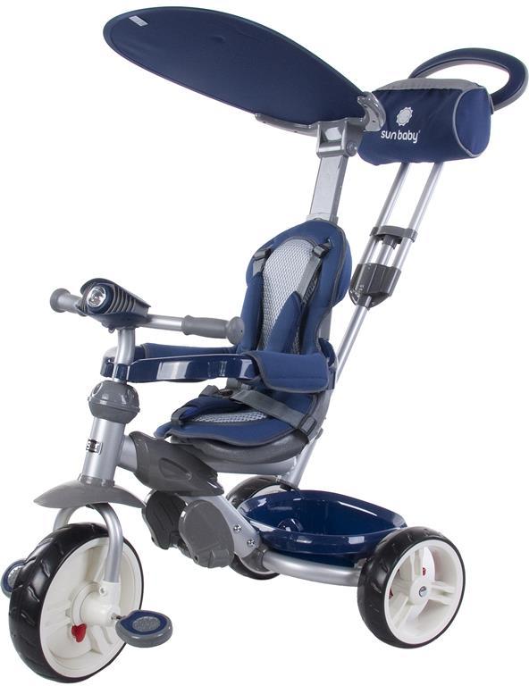 LITTLE TIGER  Z100 szülőkormányos tricikli Blue Ledes világítással