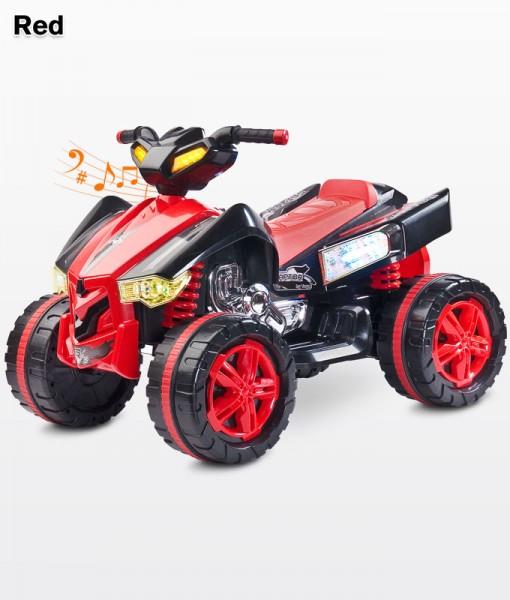 Raptor Red elektromos Quad 12 Voltos 2 motoros hajtással, Ledes világítással