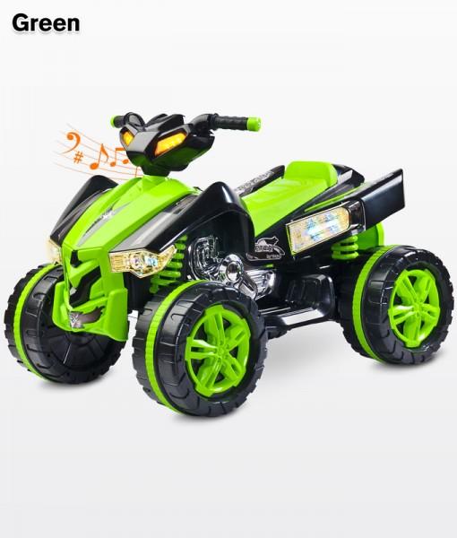 Toyz Raptor Green elektromos Quad 12 Voltos 2 motros hajtással, Ledes világítással