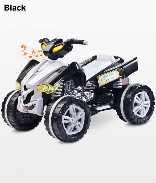 Raptor Black elektromos Quad 12 Voltos 2 motoros hajtással, Ledes világítással: