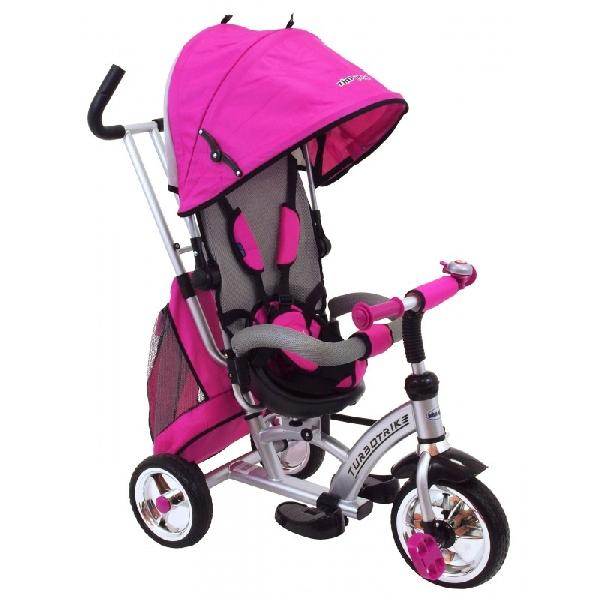 Turbo Trike szülőkormányos tricikli Pink Megfordítható extra üléssel