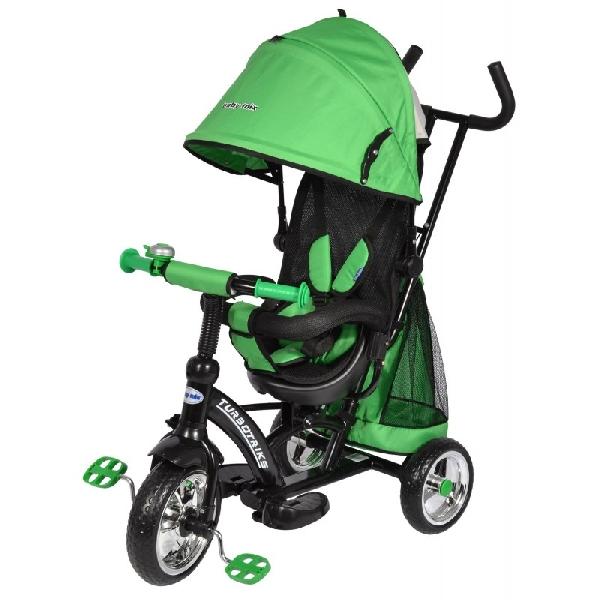 Turbo Trike szülőkormányos tricikli Green Megfordítható extra üléssel