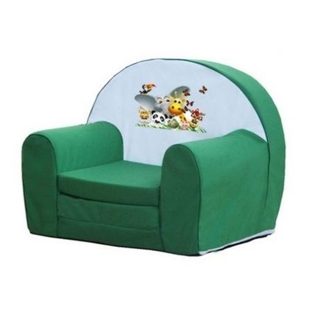 Gyerek kinyitható szivacsfotel Zoo 2: zöld színben