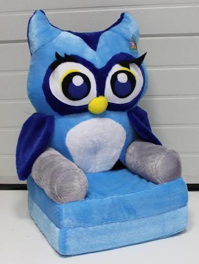 Baby kinyitható figurás fotel kék bagoly