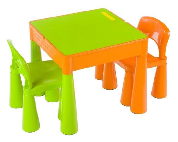 Tega Baby Mamut szett, asztal + 2 db szék narancs-zöld