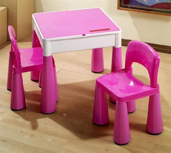 Tega Baby Mamut szett, asztal + 2 db szék pink