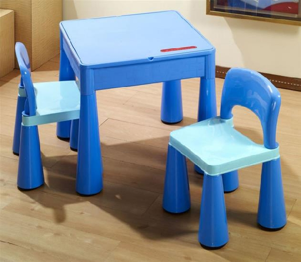 Tega Baby Mamut szett, asztal + 2 db szék kék - Bababolt ...