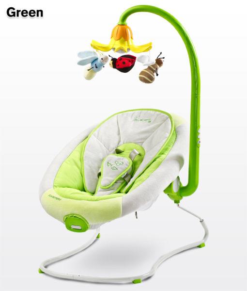Caretero Blossom rezgő-zenélő pihenőszék Green