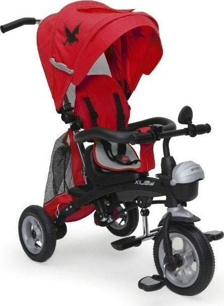 Fenix Air szülőkormányos tricikli Red 3in1