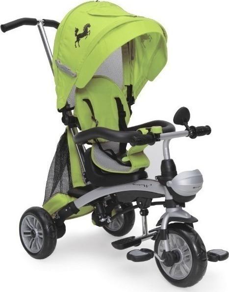Byox MUSTANG szülőkormányos tricikli Green 3in1