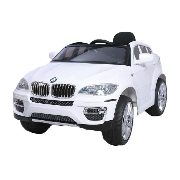 BMW X6  White elektromos terepjáró 2 sebesség,lakkozott, távirányítóval, multimédiás kivitel, gumi kerék,