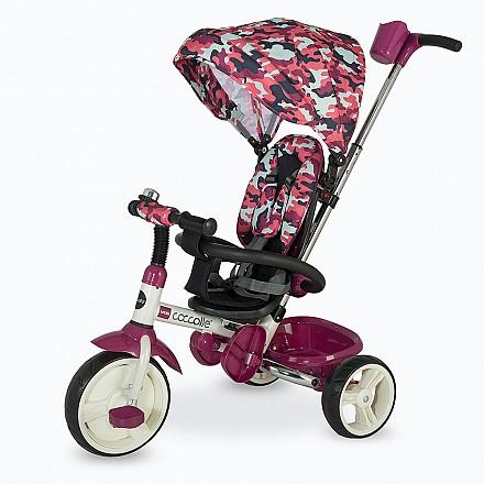 COCCOLLE URBIO ARMY szülőkormányos tricikli  Pink. Összecsukható vázzal