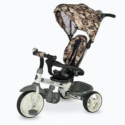 COCCOLLE URBIO ARMY szülőkormányos tricikli   Oliva. Összecsukható vázzal