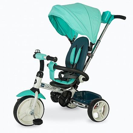 COCCOLLE URBIO  szülőkormányos tricikli  Green, Összecsukható vázzal