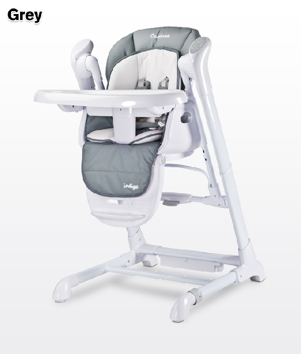CARETERO INDIGO ETETŐSZÉK ÉS HINTA 2IN1: GREY